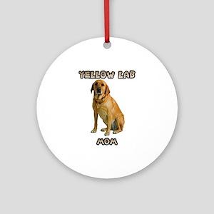 Yellow Lab Mom Ornament (Round)