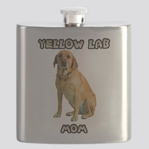 Yellow Lab Mom Flask