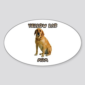 Yellow Lab Mom Sticker (Oval)