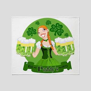 St. Patricks Day pub celebration Throw Blanket