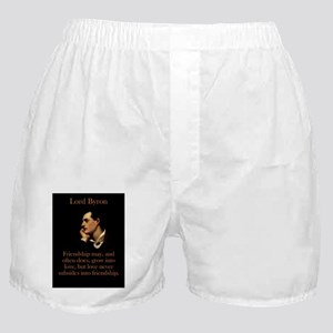 Friendship May And Often Does - Lord Byron Boxer S