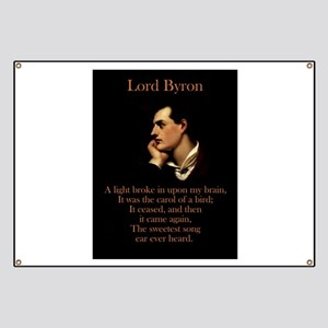 A Light Broke - Lord Byron Banner