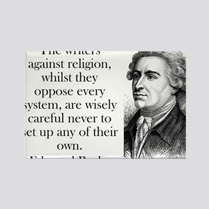 The Writers Against Religion - Edmund Burke Magnet