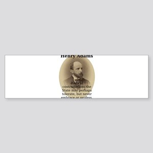 Radical Contradictions - Henry Adams Sticker (Bump