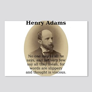 No One Means All He Says - Henry Adams Postcards (