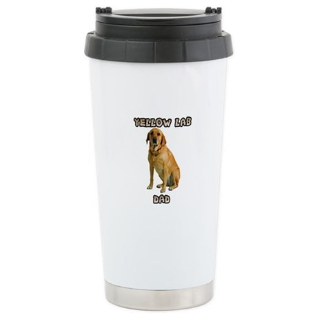 Yellow Lab Dad Stainless Steel Travel Mug