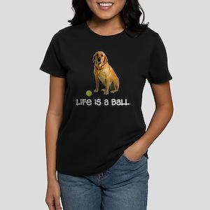 Yellow Lab Life Women's Dark T-Shirt