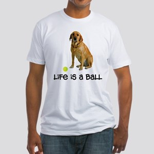 Yellow Lab Life Fitted T-Shirt