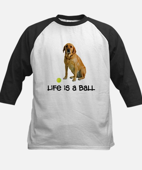 Yellow Lab Life Kids Baseball Jersey