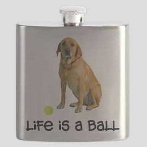 Yellow Lab Life Flask