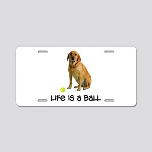Yellow Lab Life Aluminum License Plate