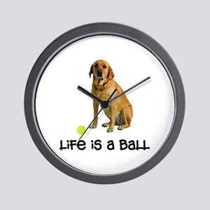 Yellow Lab Life Wall Clock