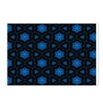 Blue Stars Pattern Postcards (Package of 8)