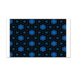 Blue Stars Pattern 20x12 Wall Decal
