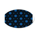 Blue Stars Pattern 35x21 Oval Wall Decal