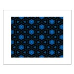Blue Stars Pattern Small Poster