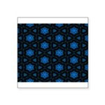 Blue Stars Pattern Square Sticker 3