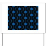 Blue Stars Pattern Yard Sign