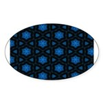 Blue Stars Pattern Sticker (Oval)