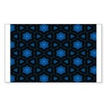 Blue Stars Pattern Sticker (Rectangle)