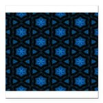 Blue Stars Pattern Square Car Magnet 3