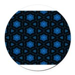 Blue Stars Pattern Round Car Magnet