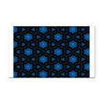 Blue Stars Pattern Rectangle Car Magnet