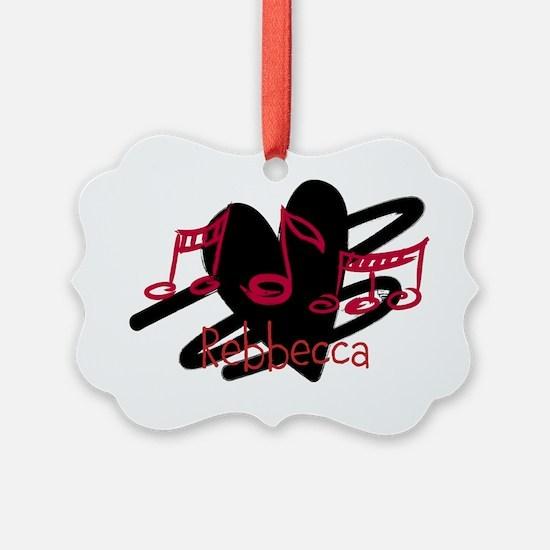Personalized music and love hearts design Ornament