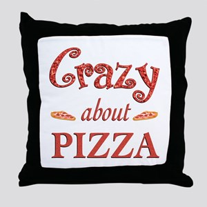 Crazy About Pizza Throw Pillow