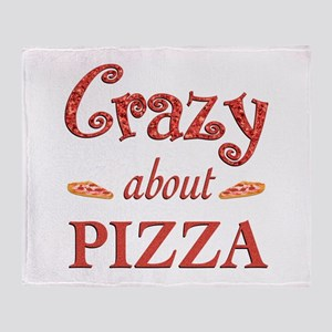 Crazy About Pizza Throw Blanket