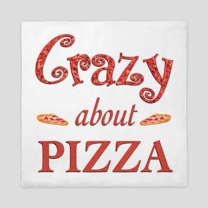 Crazy About Pizza Queen Duvet