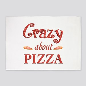 Crazy About Pizza 5'x7'Area Rug
