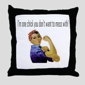 Don't Mess Throw Pillow