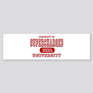 Supercharged University Property Bumper Sticker