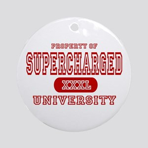 Supercharged University Property Ornament (Round)
