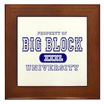 Big Block University Property Framed Tile