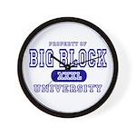Big Block University Property Wall Clock