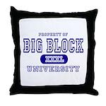 Big Block University Property Throw Pillow