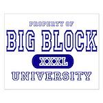 Big Block University Property Small Poster