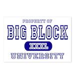 Big Block University Property Postcards (Package o