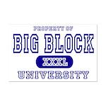 Big Block University Property Mini Poster Print