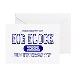 Big Block University Property Greeting Cards (Pack