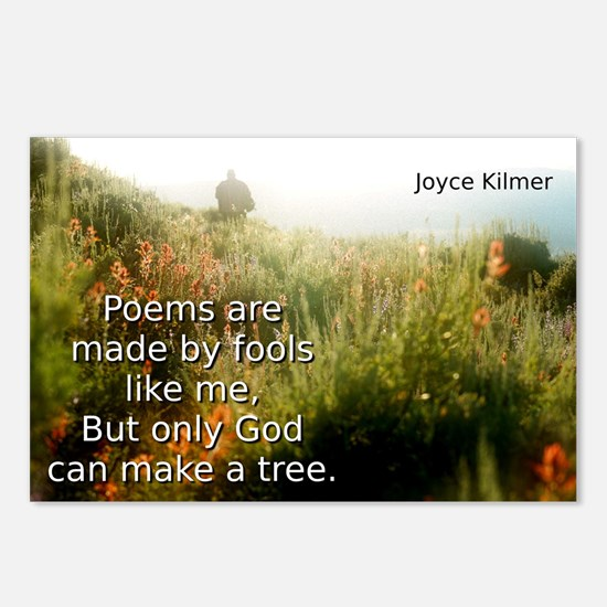 Poems Are Made By Fools - Joyce Kilmer Postcards (