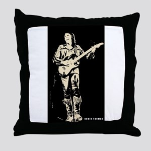 robin trower original art Throw Pillow