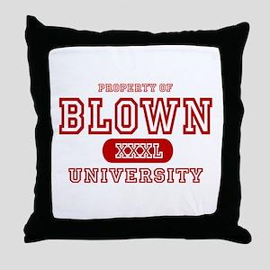 Blown University Property Throw Pillow
