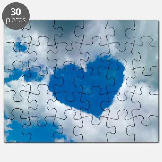 Heart-shaped cloud formation - Puzzle