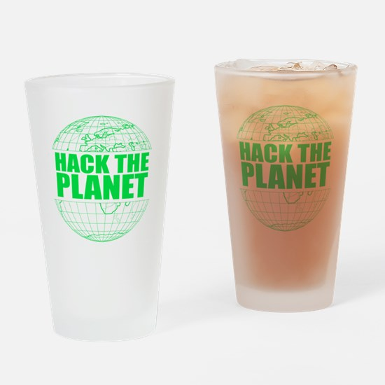 Hack The Planet Drinking Glass