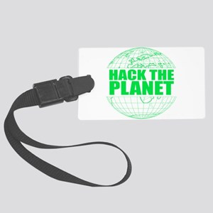 Hack The Planet Large Luggage Tag