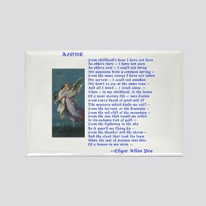 Poe Poem Alone Rectangle Magnet