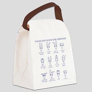 Italian Greyhound Ears Canvas Lunch Bag